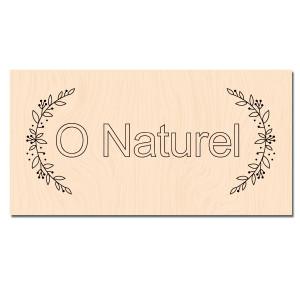 Entre les Lignes-Tampon bois O Naturel