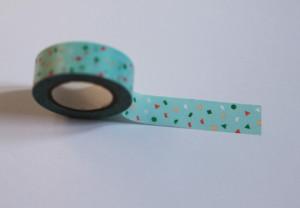 Masking Tape Confettis bleu multicolore