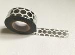 Masking Tape motifs ronds couleur argent
