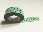 Masking Tape Vert eau Confettis or