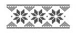 Tampon bois Frise Flocon point de croix