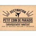 Tampon bois Florilèges Design Coin de Paradis (Capsule Août)