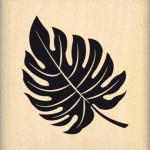 Tampon bois Florilèges Design Feuille exotique