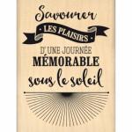 Tampon bois Florilèges Design Journée sous le soleil