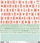 Alphabet Basic Grey format 30x30cm