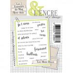 Tampon clear L'Encre&L'image Les Mots doux