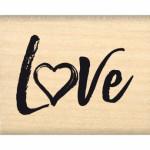 Tampon bois Florilèges Design Love brush