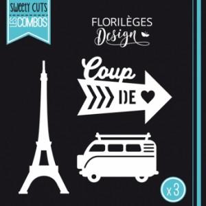 Matrice de découpe Florilèges Design Coup de coeur ( Capsule Août)