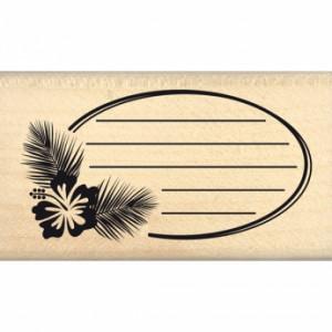 Tampon bois Florilèges Design Ovales des Tropiques