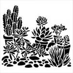 Pochoir format 15x15cm Cactus