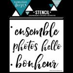 Pochoir Florilèges Design 4 mots