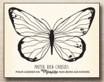 Tampon bois Swirlcards Grand Papillon