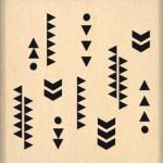 Tampon bois Florilèges Design Fins motifs