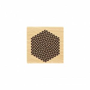 Tampon bois Florilèges Design Hexagone Rayonnant
