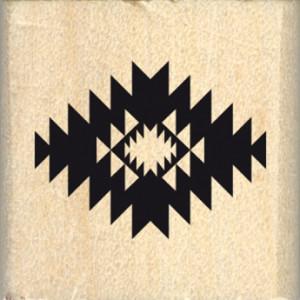 Tampon bois motif ethnique