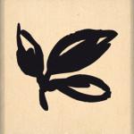 Tampon bois Florilèges Design Trois feuilles