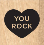 Tampon bois You rock !