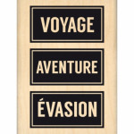 Tampon bois Florilèges Design Voyage Evasion ( Capsule Août)