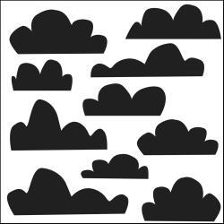 Pochoir nuages