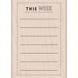 Tampon bois This week planner